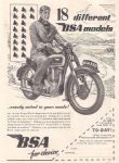 BSA Motorcycle Poster P5123